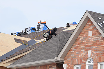 Roofing project in the winter